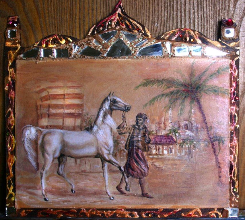 Araber, Motiv einer alten Zigarrenkiste, Probebild verkauft