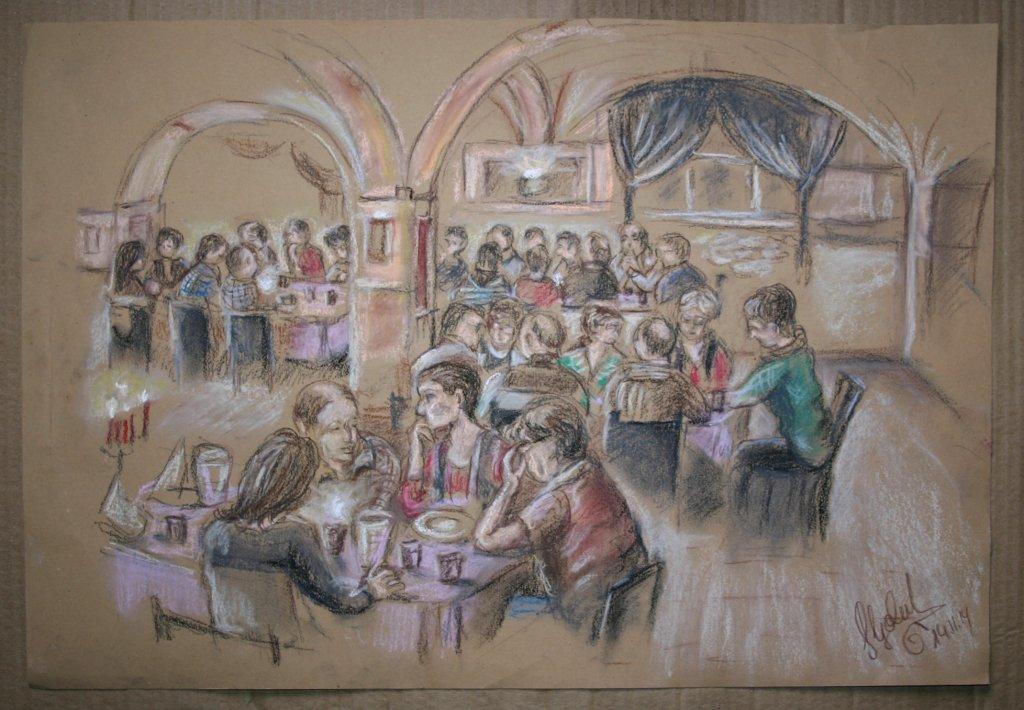 Gesamtportrait einer Feier, Ratskeller Hainichen