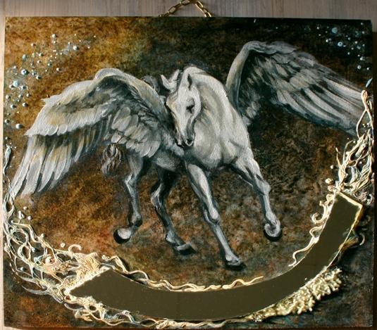Pegasus , nachtleuchtend